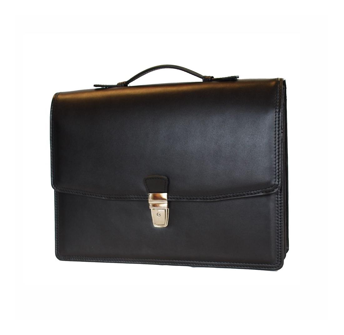 c7f407281 Elegantná kožená aktovka z pravej kože v čiernej farbe č.8170 ...