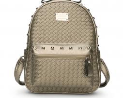 Kvalitný dámsky ruksak z pletenej kože s vybíjaním (1)