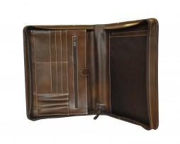 Luxusná kožená spisovka č.7877 v hnedej farbe2