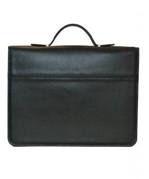 Luxusná kožená spisovka v čiernej farbe1