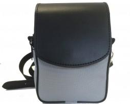 Pánska etua crossbody 7979k v šedej farbe. Kožené etue sú veľmi praktickým doplnkom pánskeho moderného outfitu (1)