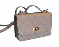 Dámska štýlová kabelka crossbody 8679 v šedej farbe