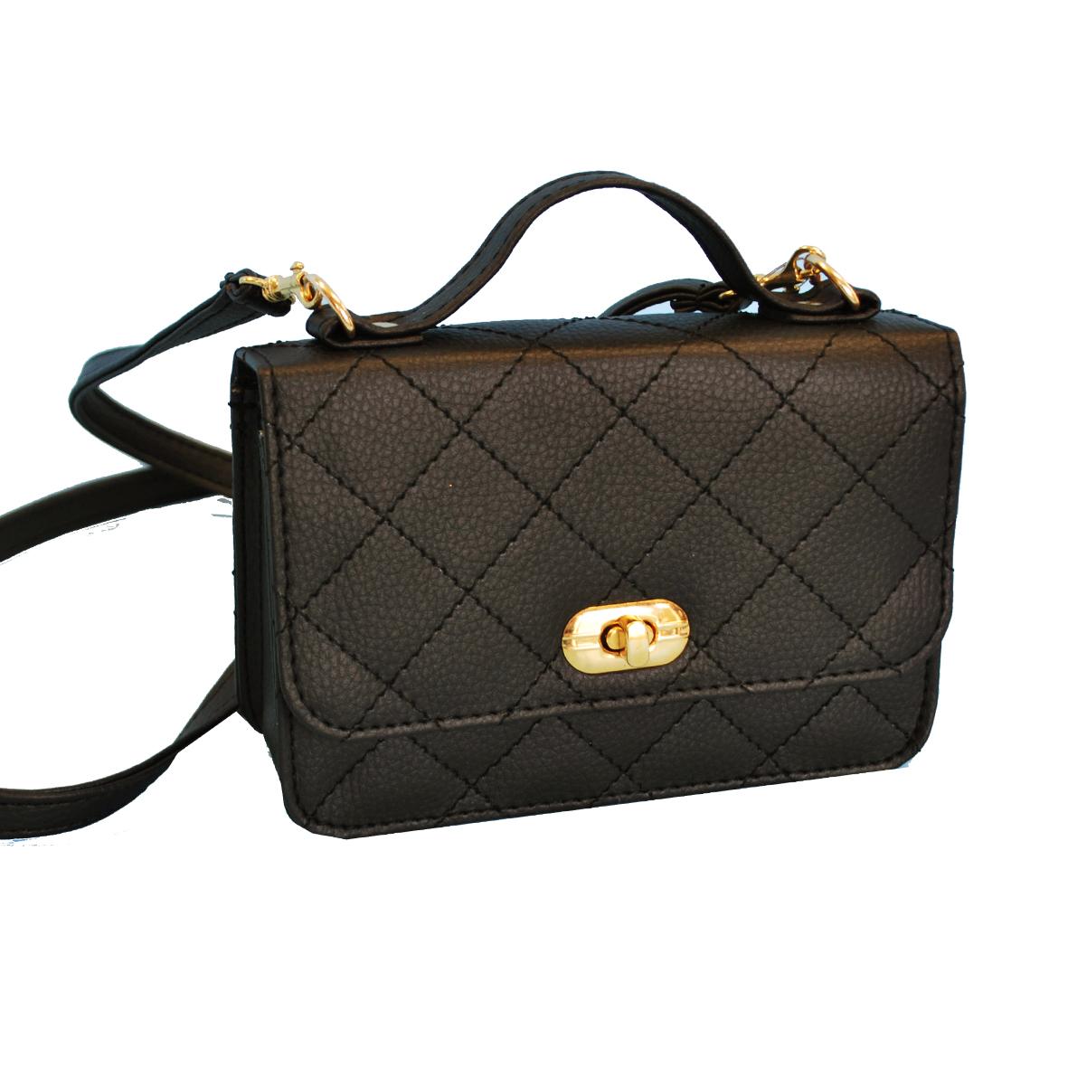 c90f3ab974 Dámska štýlová kabelka crossbody 8679 v čiernej farbe - Kožená ...