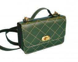 573e951be7d9 Dámska štýlová kabelka crossbody 8679 v zelenej farbe