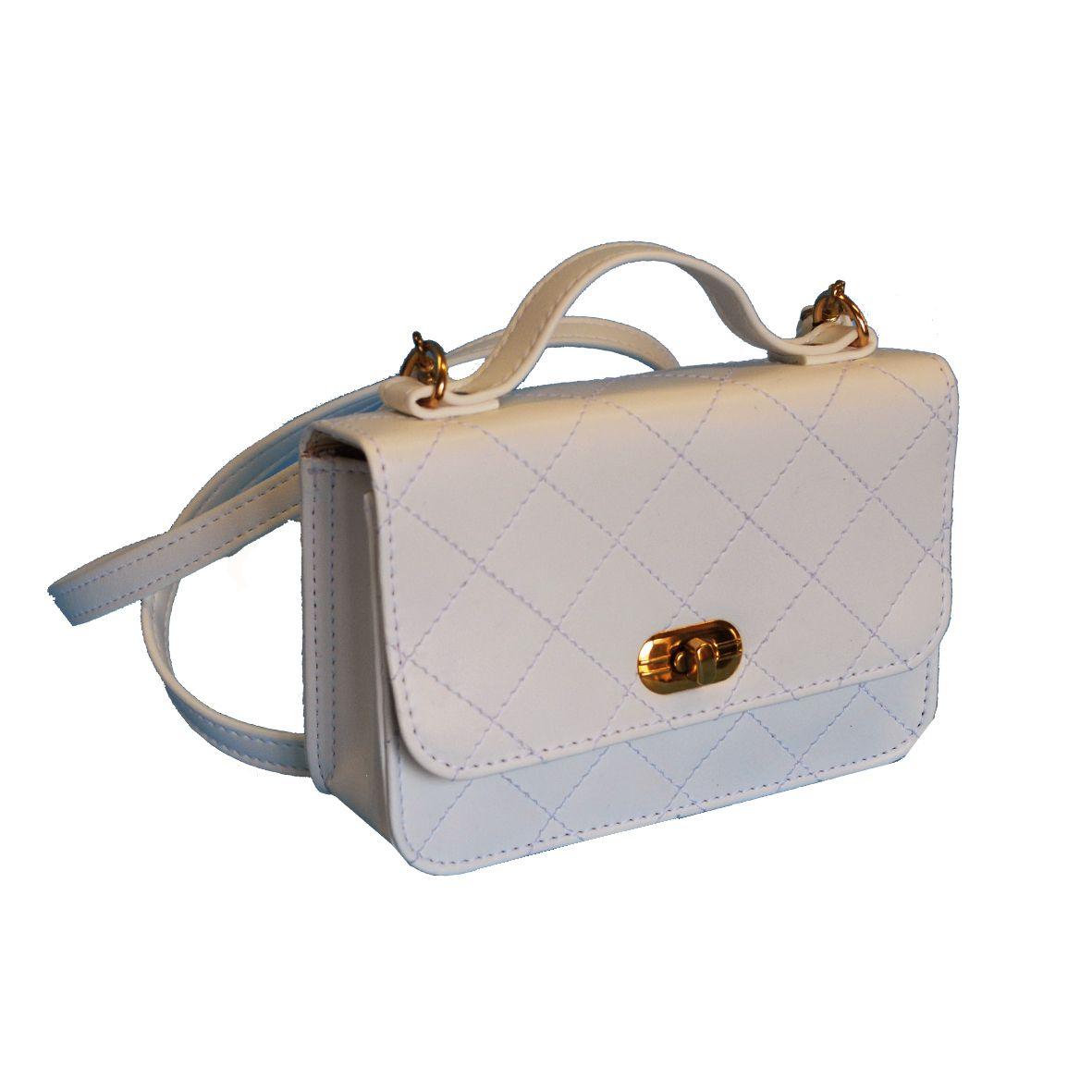 Dámska štýlová kabelka crossbody 8679 v bielej farbe 7a40684d01c