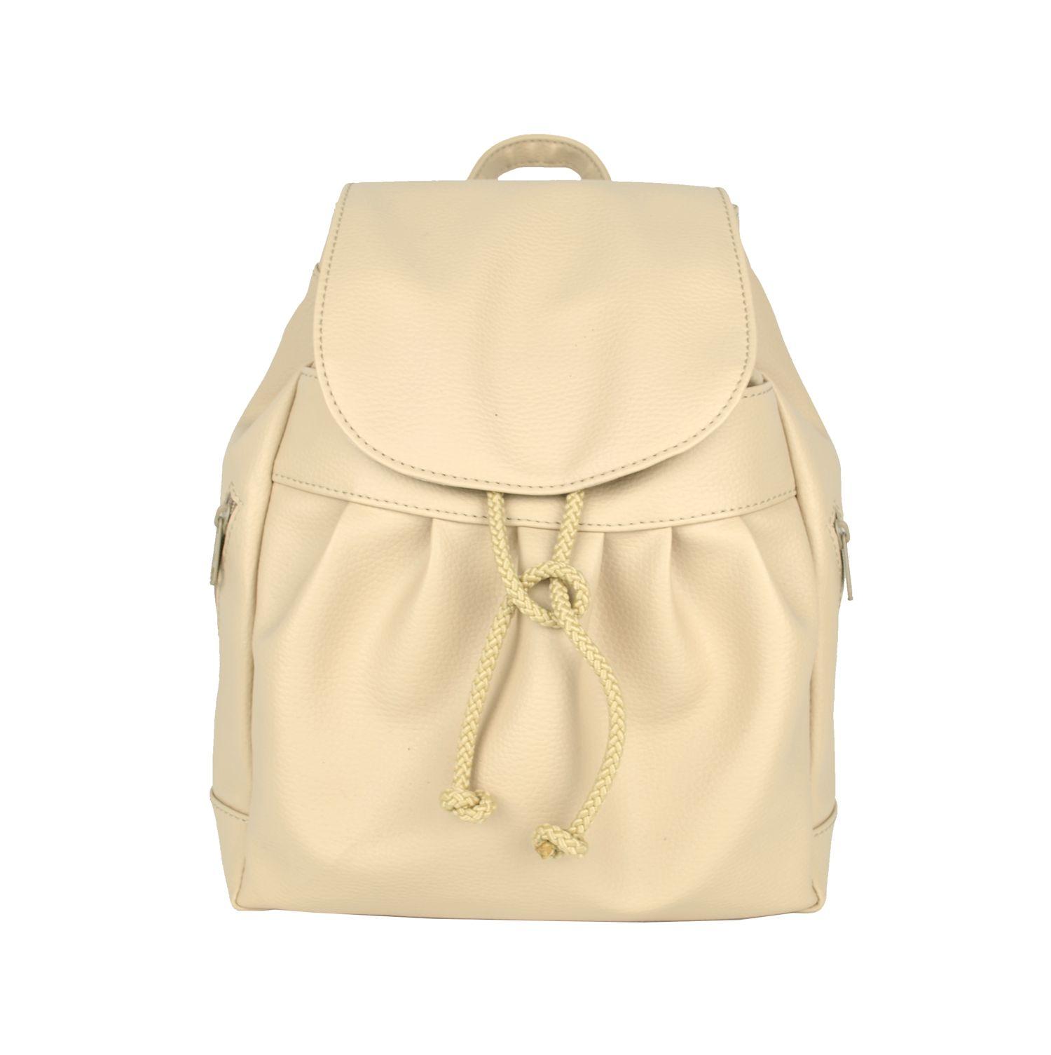 eb2fec5b0113 Dámsky kožený módny ruksak 8665u v bežovej farbe (2)