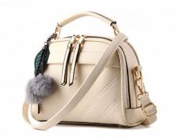 Kožená moderná kabelka v elegantnom štýle vo farbách. (5)