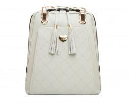 Kožený ruksak z pravej hovädzej kože č.8668 v šedej farbe (2)