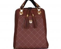 Kožený ruksak z pravej hovädzej kože č.8668 v červenej farbe