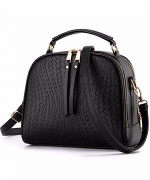 Moderná kabelka v elegantnom štýle s dvomi oddeleniami vo farbách (10)