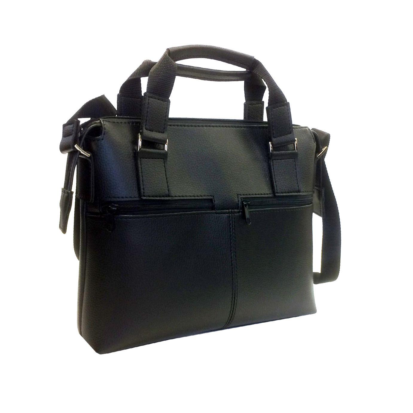 a86e9292c Praktická bussines taška na notebook 8676 v čiernej farbe - Kožená ...
