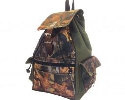Textilný športový ruksak 8673 s popruhom v zelenej farbe (2)