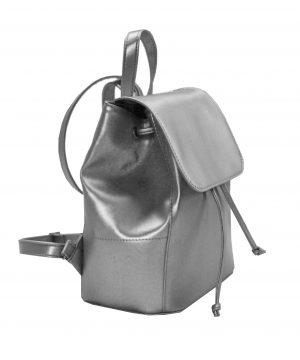 Módny hit Leta 2017 - Moderný kožený ruksak č.8659 v striebornej farbe (2)