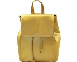 Módny hit Leta 2017 - Moderný kožený ruksak č.8659 v zlatej farbe (1)