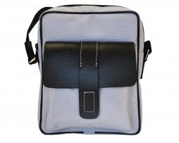 Textilná športová etua crossbody 8678 v šedej farbe (2)