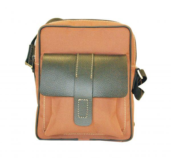 Textilná športová etua crossbody 8678 v hnedej farbe (2)