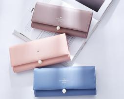 Exkluzívna kožená peňaženka s dekoračnou perlou vo farbách7