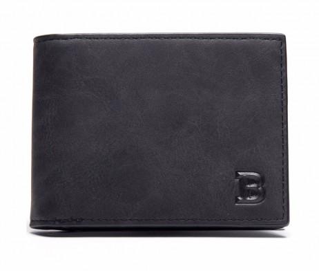 Kožená pánska peňaženka v čiernej farbe (3)