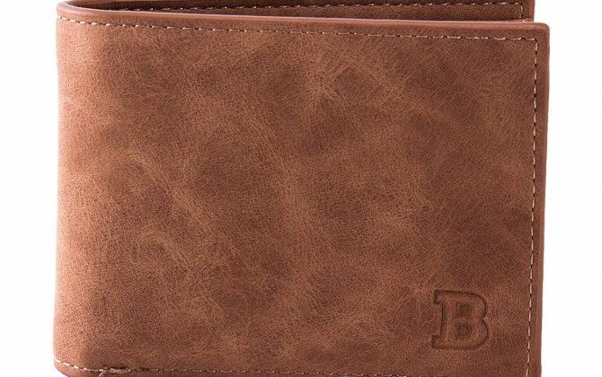 Kožená pánska peňaženka v hnedej farbe. Peňaženka je vyrobená zo syntetickej kože (2)