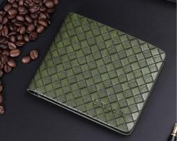 Kožená pánska peňaženka so vzorom pletenia vo farbách5