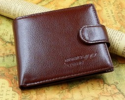 Kožená peňaženka v elegantnom štýle pre pánov. Peňaženka je vyrobená zo syntetickej kože6