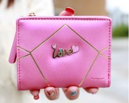 Krásna kožená dámska peňaženka LOVE vo farbách6
