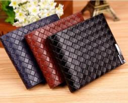Luxusná pánska peňaženka so vzorom pletenia vo farbách2