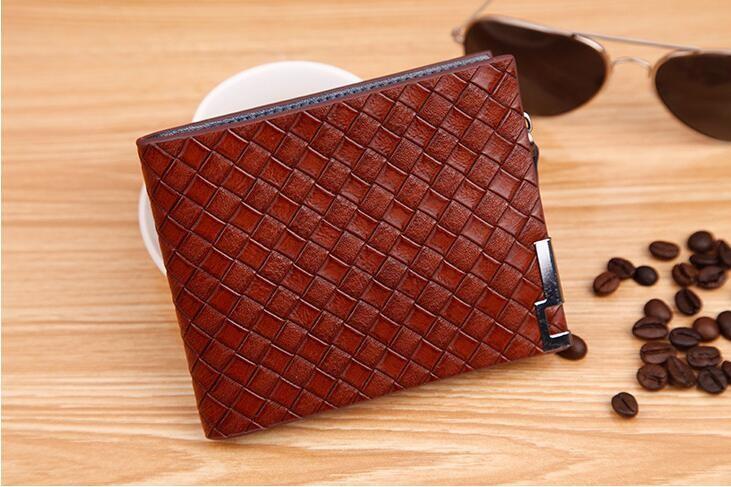 Luxusná pánska peňaženka so vzorom pletenia vo farbách  0e8eaa72a32
