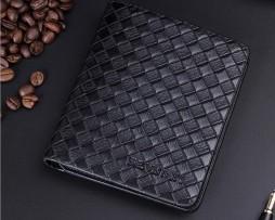 Pánska kožená peňaženka so vzorom pletenia vo farbách1