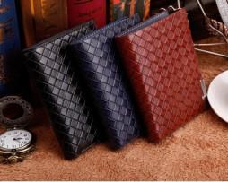 Pánska luxusná peňaženka so vzorom pletenia vo farbách2
