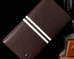 Vysoká pánska kožená peňaženka značky Bogesi v hnedej farbe (2)