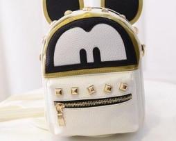 Mickey Mouse ruksak zo syntetickej kože v bielej farbe