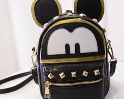 Mickey Mouse ruksak zo syntetickej kože v čiernej farbe