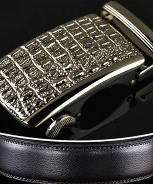 Oirignálny kožený opasok pre pánov s automatickou prackou