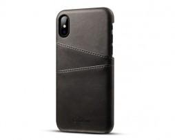 Kryt na kreditnú alebo debetnú kartu pre iPhone X v čiernej farbe