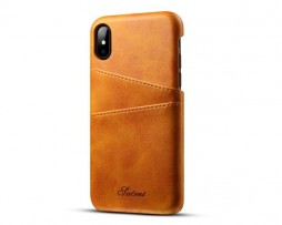 Kryt na kreditnú alebo debetnú kartu pre iPhone X v khaki farbe