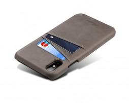 Kryt na kreditnú alebo debetnú kartu pre iPhone X v šedej farbe