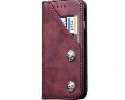 Kryt na kreditnú kartu + stojan pre iPhone X v červenej farbe