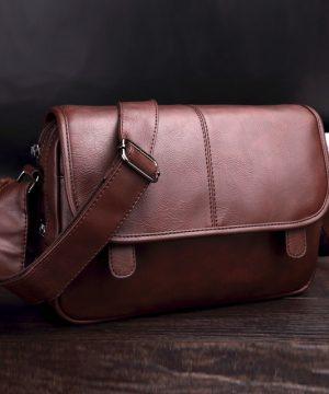 Elegantná kožená pracovná taška cez rameno vo farbách