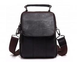 Pánska elegantná kožená taška cez plece vo farbách. Taška je vyrobená zo syntetickej kože (8)