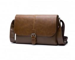 Pánska kožená pracovná taška cez rameno vo farbách (3)