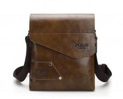 Pánska kvalitná kožená taška POLO cez plece vo farbách (2)