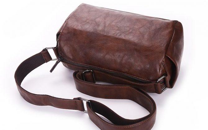 Pánska pracovná kožená taška cez rameno vo farbách. Taška je vyrobená zo syntetickej kože (9)