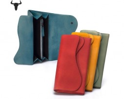 Dámska jedinečná kožená peňaženka z kolekcie COUNTRY vo farbách (5)