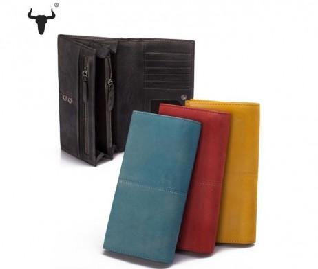Dámska peňaženka kožená z kolekcie COUNTRY vo farbách obsahuje veľmi kvalitné použité materiály (2)