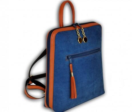 Dámsky ruksak z talianskej prírodnej hovädzej kože
