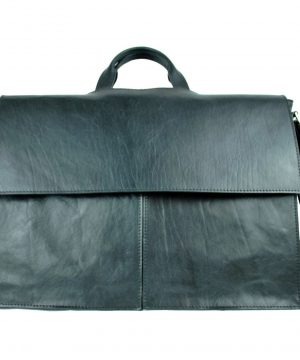 Exkluzívna kožená aktovka č.8369 v čiernej farbe (2)