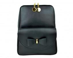 Exkluzívny kožený ruksak z pravej hovädzej kože č.8666 v čiernej farbe (2)
