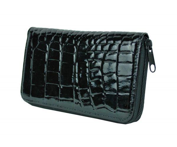 Lakovaná kožená peňaženka č.8627 v čiernej farbe. Nezabúdajte, že kvalitná peňaženka vytvára o vás predstavu na ktoromkoľvek mieste kde ju použijete (2)