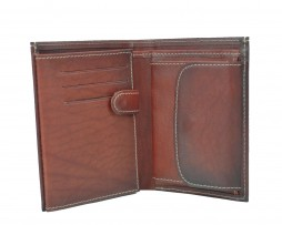 Luxusná kožená peňaženka č.8560 v bordovej farbe (3)